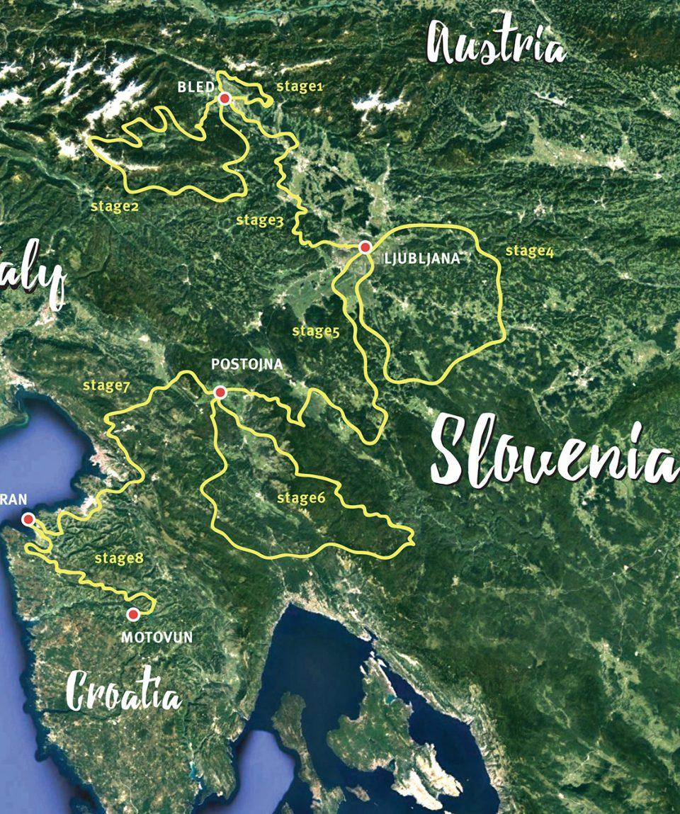 slovenia gravel epic self guided tour map
